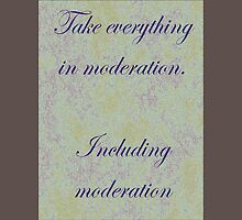 Take everything in moderation Long Sleeve T-Shirt