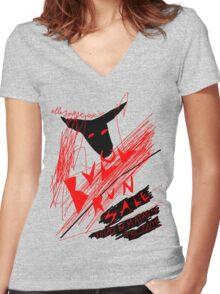 'Bull Run Sale' Women's Fitted V-Neck T-Shirt