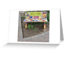 """Power of KINDNESS"" - Tiled Bench Greeting Card"