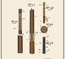 Pool Cue Patent - Colour by FinlayMcNevin
