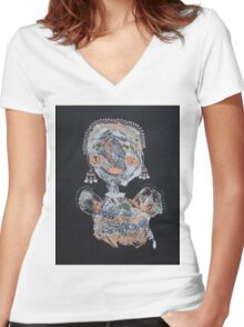 All Dressed Up Women's Fitted V-Neck T-Shirt