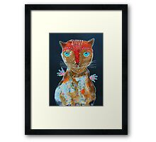 Cat With Green Blue Eyes Framed Print