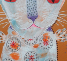 Patterned Cat Sticker