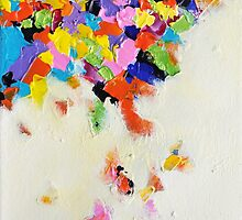 Falling Rainbow Abstract Colorful Art by ArtMK