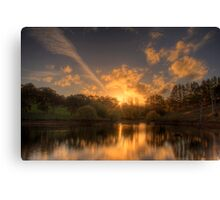 Sunset at Appletree Cottage, Adelaide Hills Canvas Print