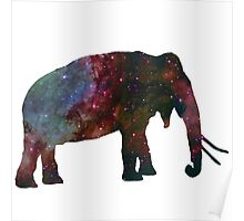 Space Galaxy Elephant Thing Poster