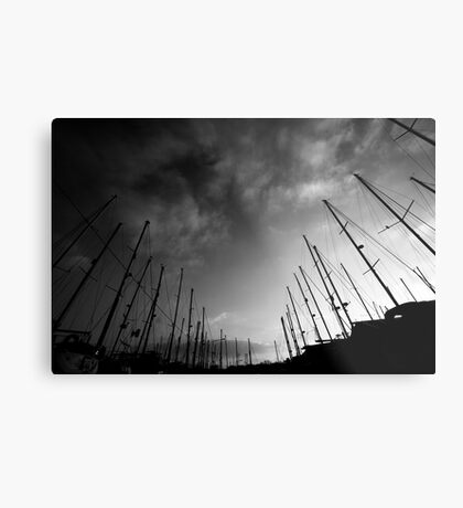 Yachts in the sky Metal Print