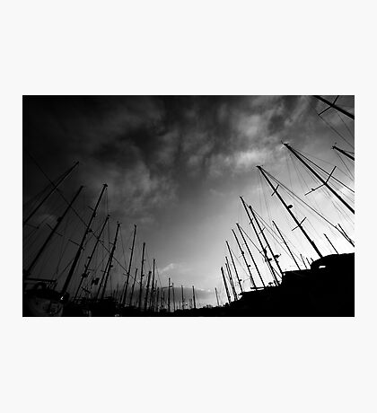 Yachts in the sky Photographic Print