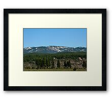 Sierra Mountains, Nevada V Framed Print