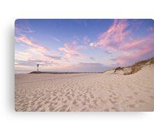 Sunset at City Beach Canvas Print