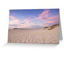 Sunset at City Beach Greeting Card