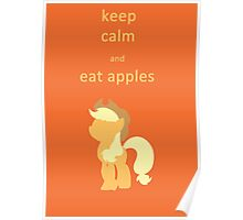 keep calm and eat apples Poster