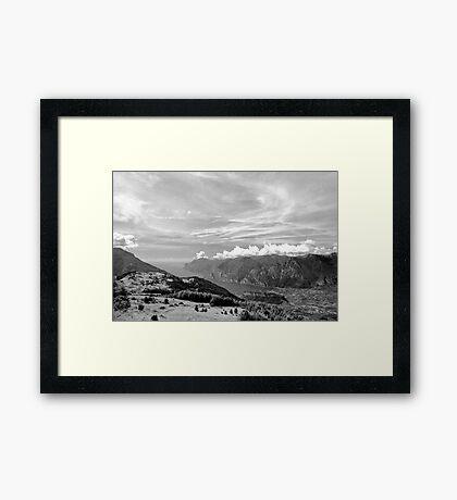 Lago di Garda, view from Monte Stivo, Italy Framed Print