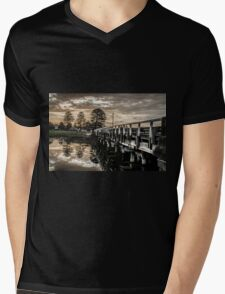 Bridge Reflection Mens V-Neck T-Shirt