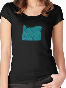 PDX Airport Carpet Portland OR Women's Fitted Scoop T-Shirt