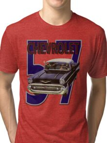 57 Chevy Tri-blend T-Shirt