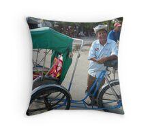 Cyclo Driver Throw Pillow