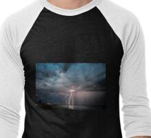 Summer beach lightning strike Men's Baseball ¾ T-Shirt