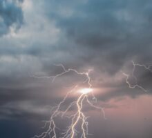 Summer beach lightning strike Sticker