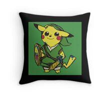 link pikachu Throw Pillow