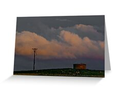 A Pole and a Watertank Greeting Card