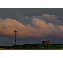 A Pole and a Watertank Photographic Print