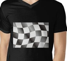 Race Flag Mens V-Neck T-Shirt