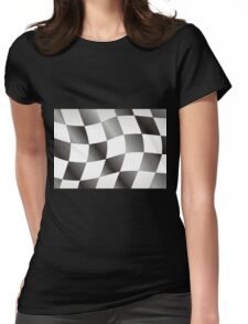 Race Flag Womens Fitted T-Shirt