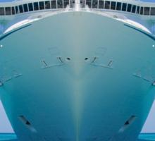cruise ship IV Sticker