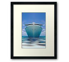 Cruise ship IV Framed Print