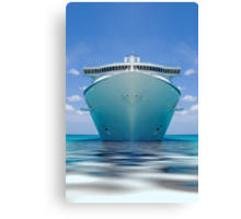 Cruise ship IV Canvas Print