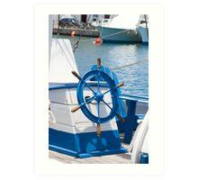 sailor wheel Art Print