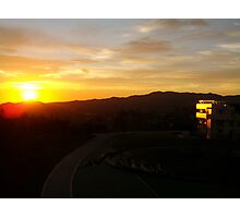 Sunset on the Getty Museum Photographic Print