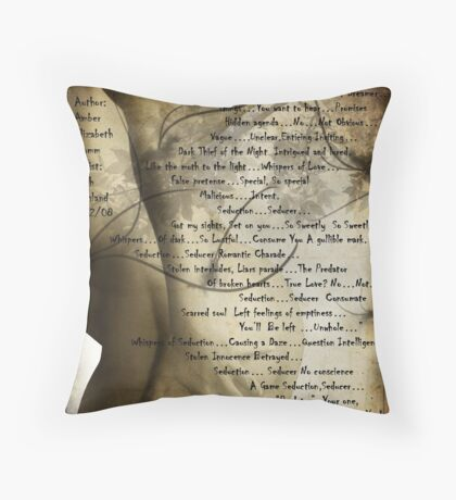 Seduction Seducer  Throw Pillow