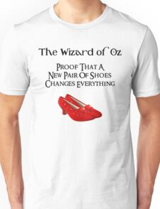 Wizard of Oz Dorothy's Shoes Unisex T-Shirt
