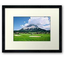 Zugspitze Arena Framed Print