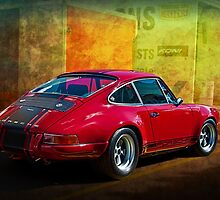 Red Porsche 911 Rear by Stuart Row