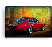 Red Porsche 911 Rear Canvas Print