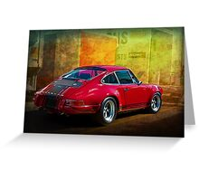 Red Porsche 911 Rear Greeting Card