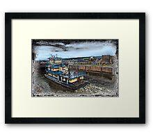 The Barge Framed Print