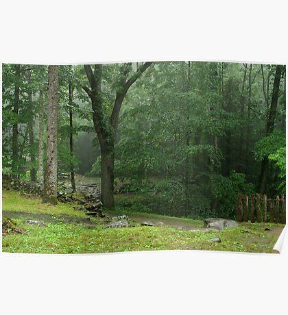 Smoky Mountain Rain Poster