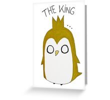 The Pinguin King Greeting Card