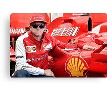 Kimi Raikkonen Ferrari F1 Driver Canvas Print