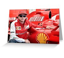 Kimi Raikkonen Ferrari F1 Driver Greeting Card