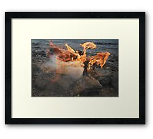 Clay People. Fire Framed Print