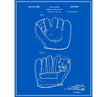 Baseball Glove Patent - Blueprint Photographic Print