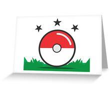 Catching Pokémon Greeting Card