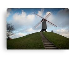 On top of the hill beneath the mill  Canvas Print