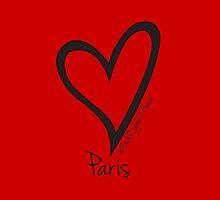 #BeARipple PEACE Heart for Paris Red by BeARipple