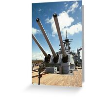 Mighty Mo's Big Guns Greeting Card